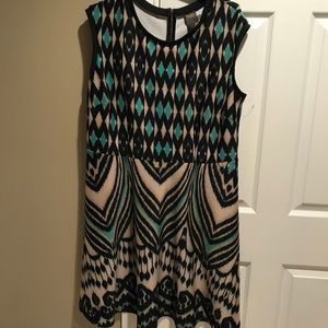 Taylor Woman plus patterned dress 16w new